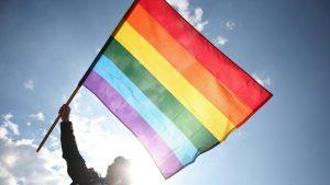 Le drapeau arc-en-ciel du mouvement gay