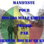 Les 200 mille emplois promis par IBK