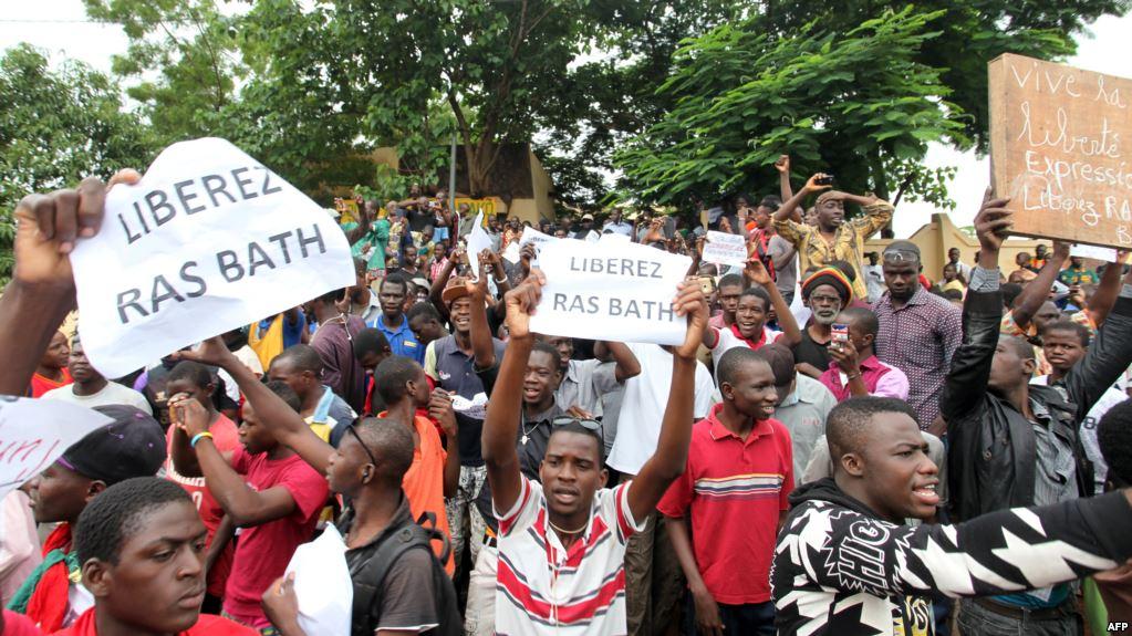Manifestation de soutien au guide du CDR, Ras BATH