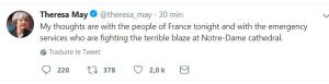 Le twitte de Theresa May