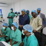 Michel SIDIBE à l'hôpital pour la prévention du Covid-19 au Mali