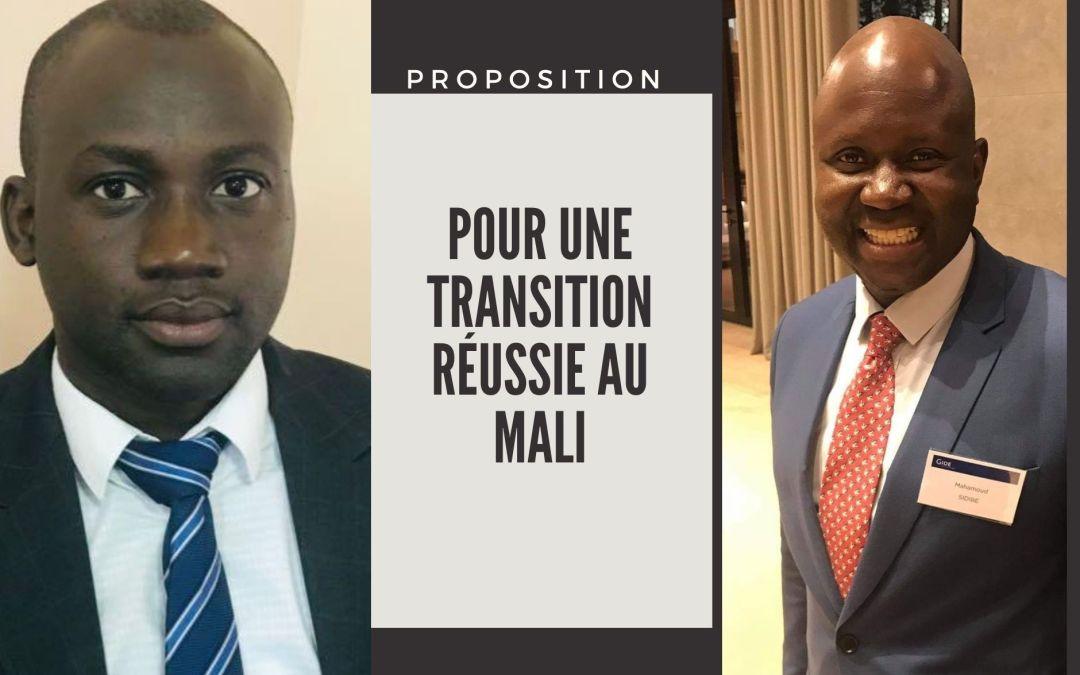 De la Transition au MALI : Propositions relatives aux futures institutions