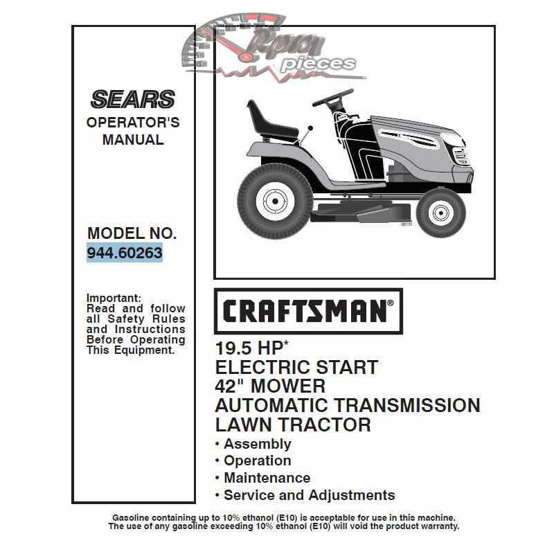Craftsman Tractor Parts Manual 944.60263