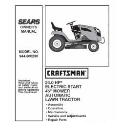 Craftsman Tractor Parts Manual 944.600230