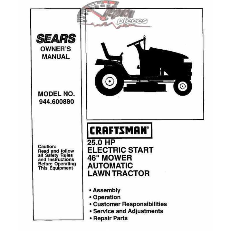 Craftsman Tractor Parts Manual 944.600880