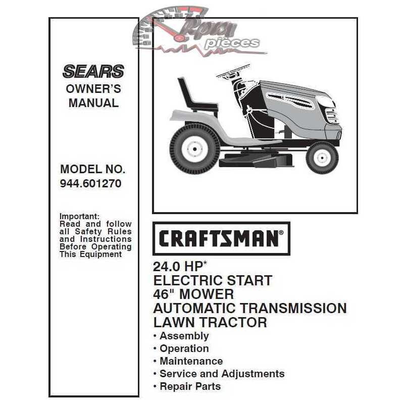 Craftsman Tractor Parts Manual 944.601270