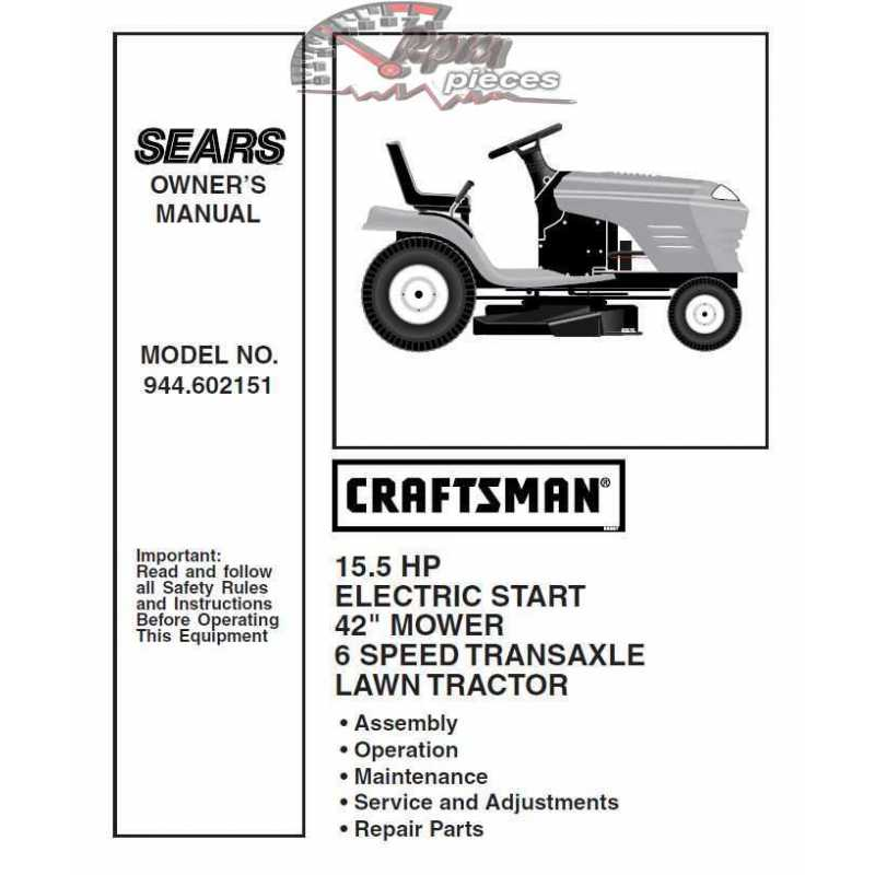 Craftsman Tractor Parts Manual 944.602151