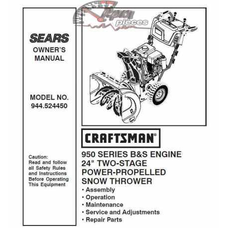 craftsman snowblower owners manual online auto Free Honda Wiring Diagram