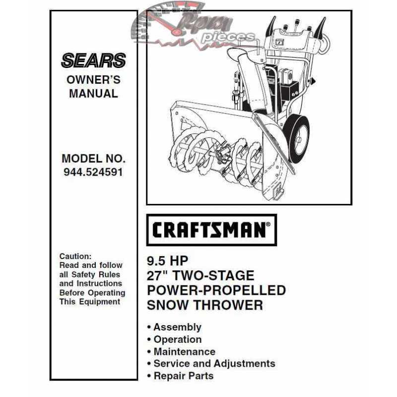 Craftsman snowblower Parts Manual 944.524591