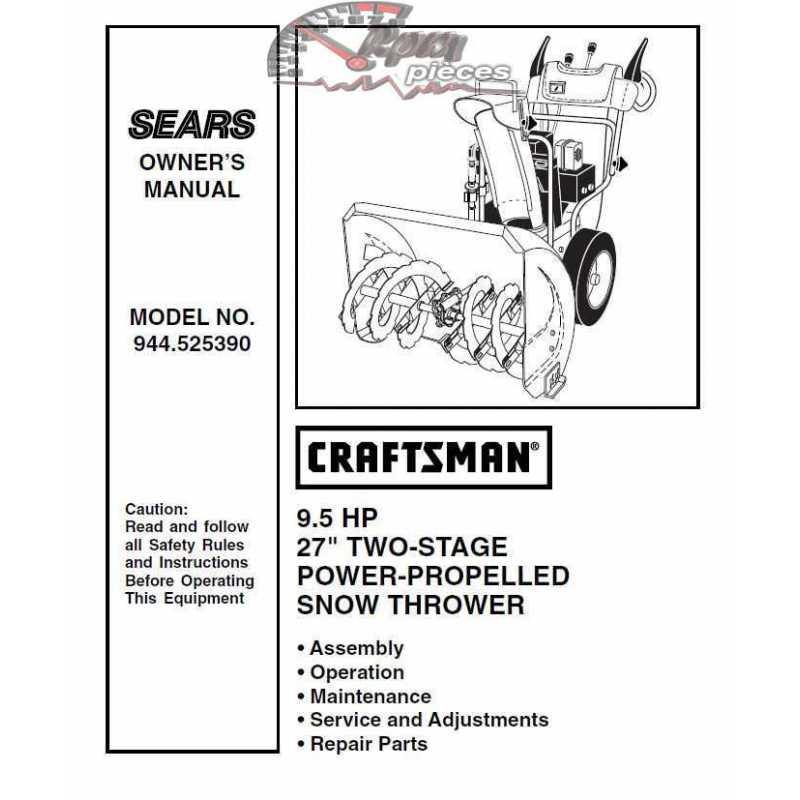Craftsman snowblower Parts Manual 944.525390