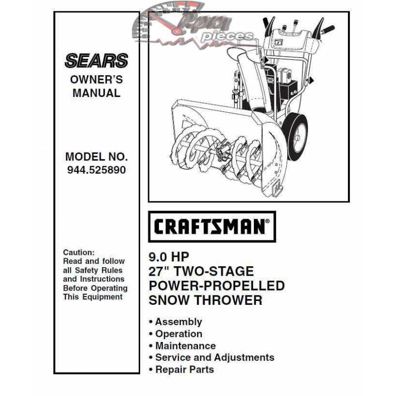 Craftsman snowblower Parts Manual 944.525890