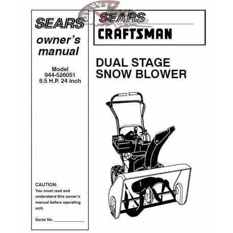 Craftsman snowblower Parts Manual 944-526051