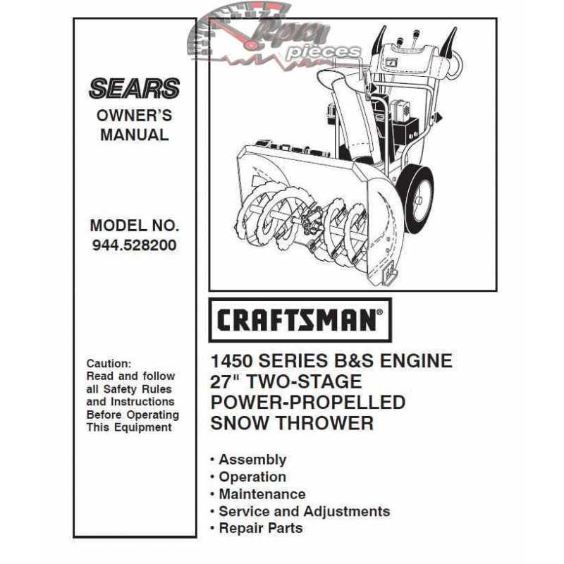Craftsman snowblower Parts Manual 944.528200