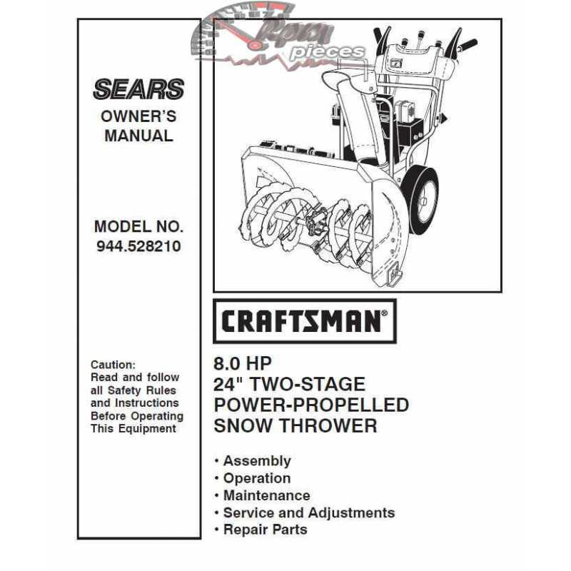 Craftsman snowblower Parts Manual 944.528210