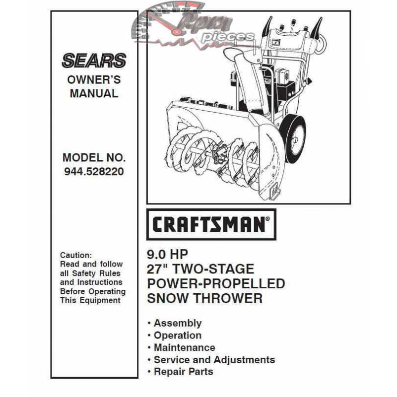 Craftsman snowblower Parts Manual 944.528220