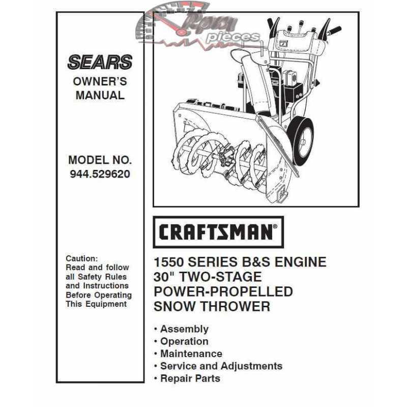 Craftsman snowblower Parts Manual 944.529620
