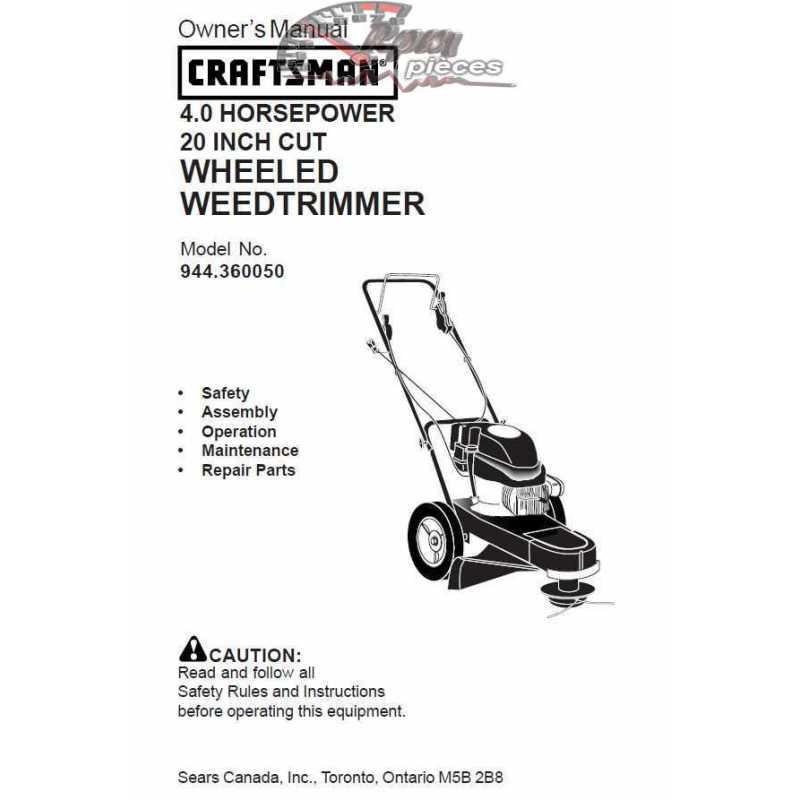 Craftsman lawn mower parts Manual 944.360050