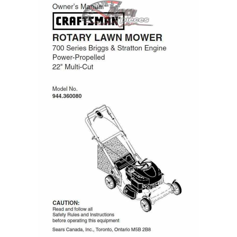 Craftsman lawn mower parts Manual 944.360080