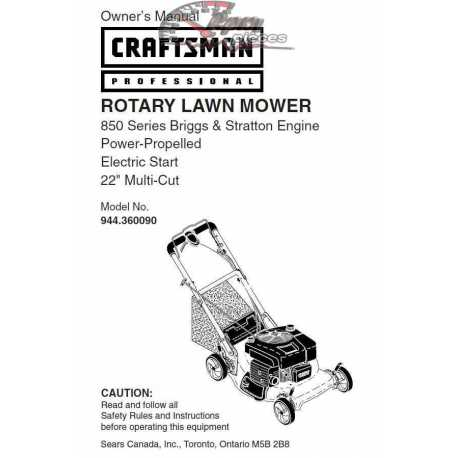 Craftsman lawn mower parts Manual 944.360090