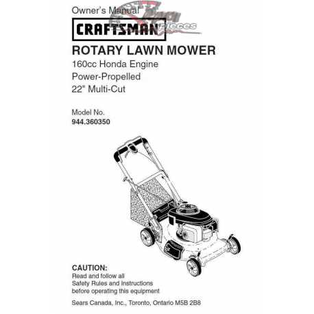 Craftsman lawn mower parts Manual 944.360350