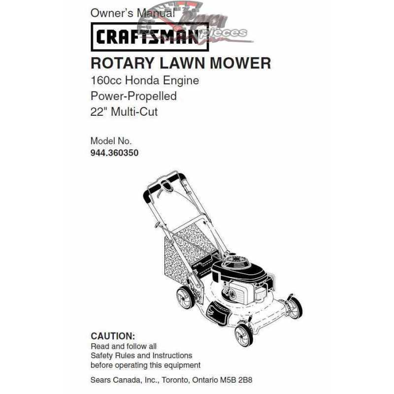 Craftsman lawn mower parts Manual 944.360350