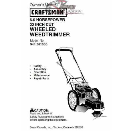 Craftsman lawn mower parts Manual 944.361060