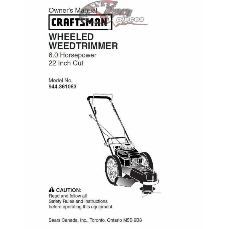 Craftsman lawn mower parts Manual 944.361063