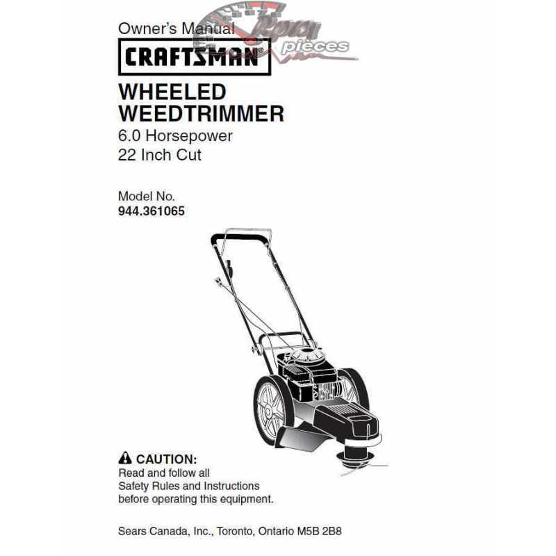 Craftsman lawn mower parts Manual 944.361065