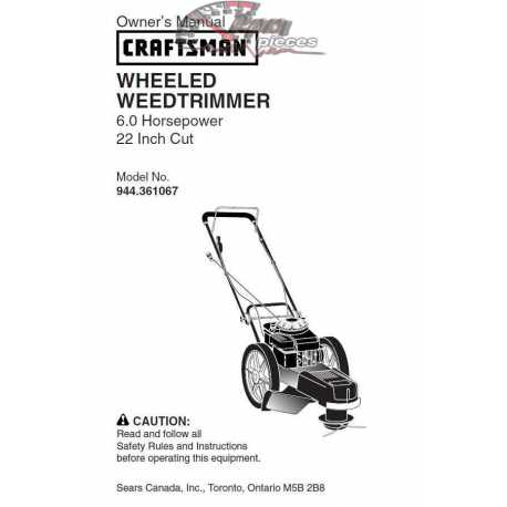 Craftsman lawn mower parts Manual 944.361067