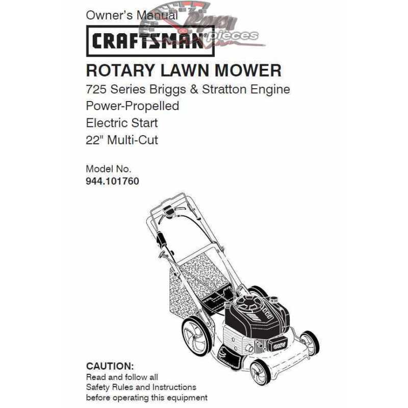 Craftsman lawn mower parts Manual 944.101760