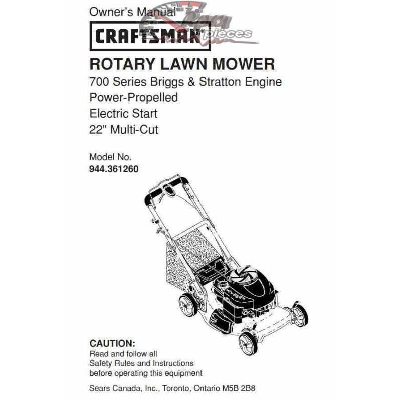 Craftsman lawn mower parts Manual 944.361260