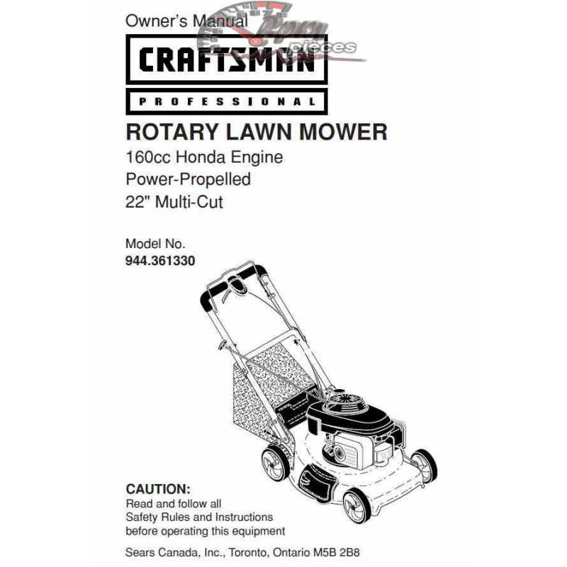 Craftsman lawn mower parts Manual 944.361330