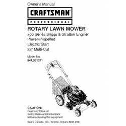 Craftsman lawn mower parts Manual 944.361452