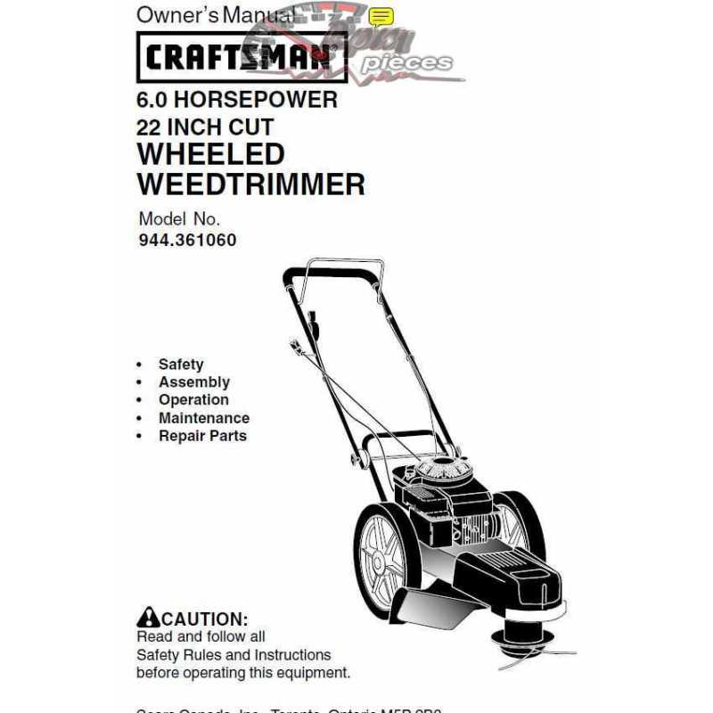 Craftsman lawn mower parts Manual 944.361061