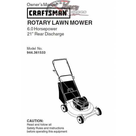 Craftsman lawn mower parts Manual 944.361533