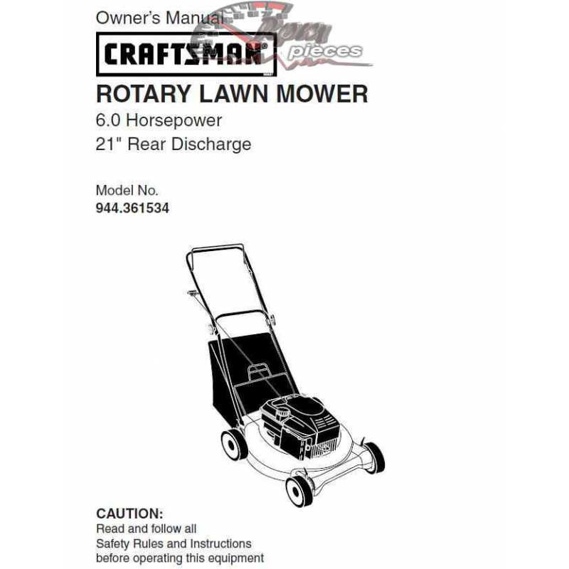 Craftsman lawn mower parts Manual 944.361534