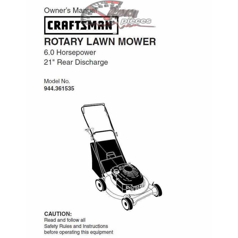 Craftsman lawn mower parts Manual 944.361535