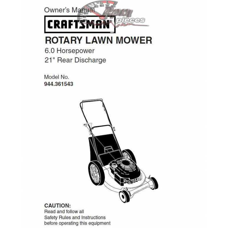 Craftsman lawn mower parts Manual 944.361543