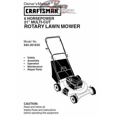 Craftsman lawn mower parts Manual 944.361630