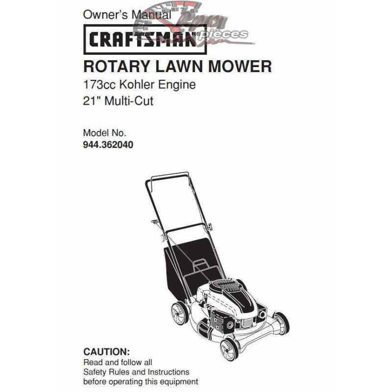 Craftsman lawn mower parts Manual 944.362040