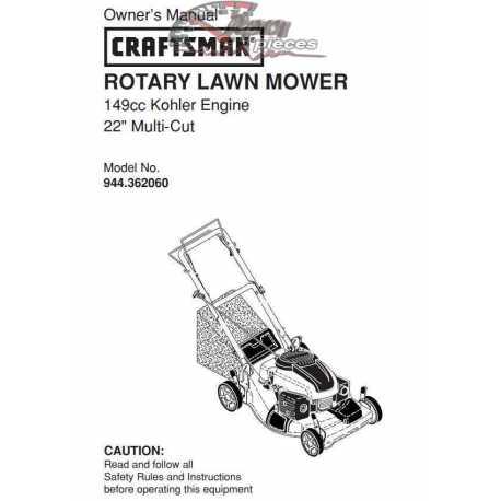 Craftsman lawn mower parts Manual 944.362060