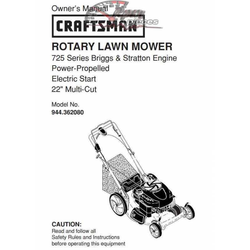 Craftsman lawn mower parts Manual 944.362080