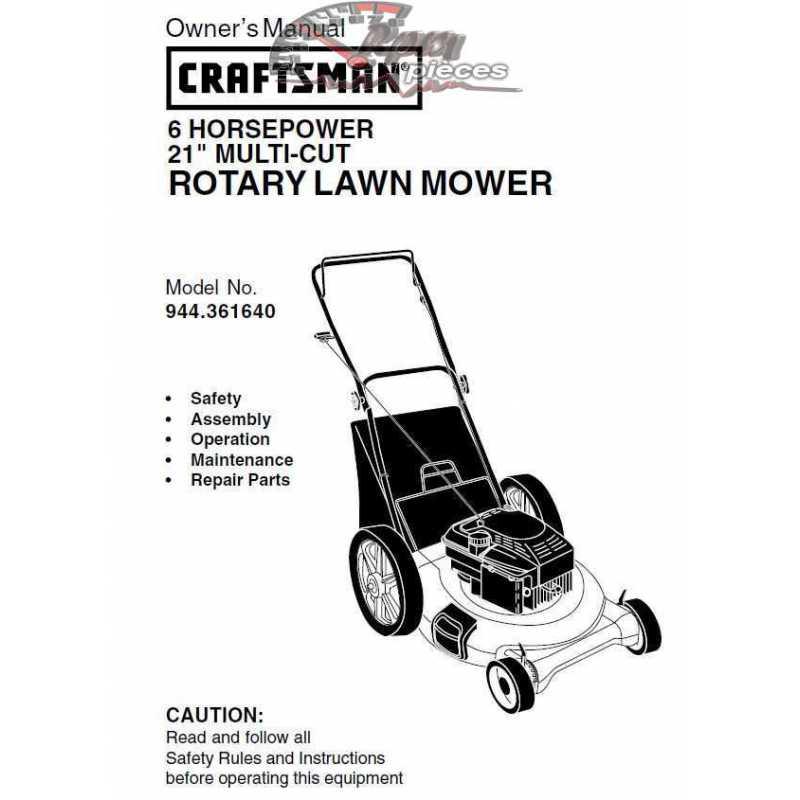Craftsman lawn mower parts Manual 944.361640