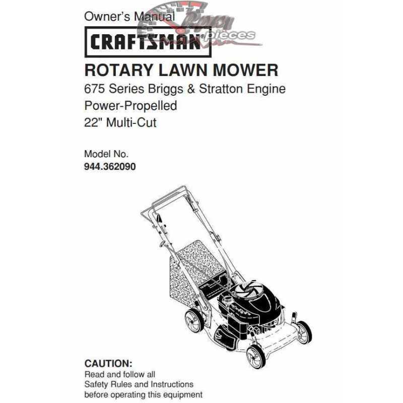 Craftsman lawn mower parts Manual 944.362090