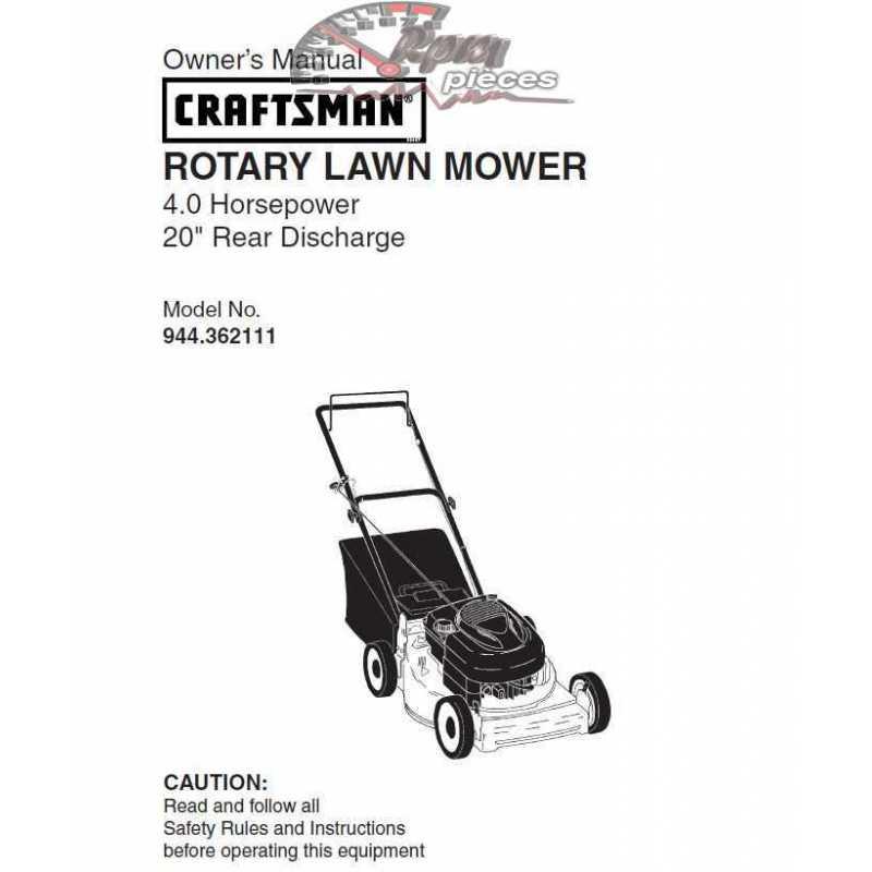 Craftsman lawn mower parts Manual 944.362111