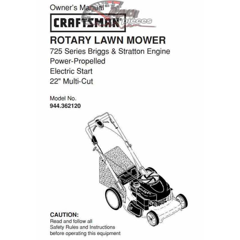 Craftsman lawn mower parts Manual 944.362120