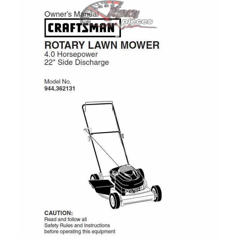 Craftsman lawn mower parts Manual 944.362131
