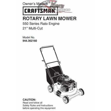 Craftsman lawn mower parts Manual 944.362160