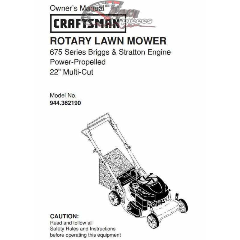 Craftsman lawn mower parts Manual 944.362190