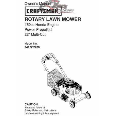 Craftsman lawn mower parts Manual 944.362200